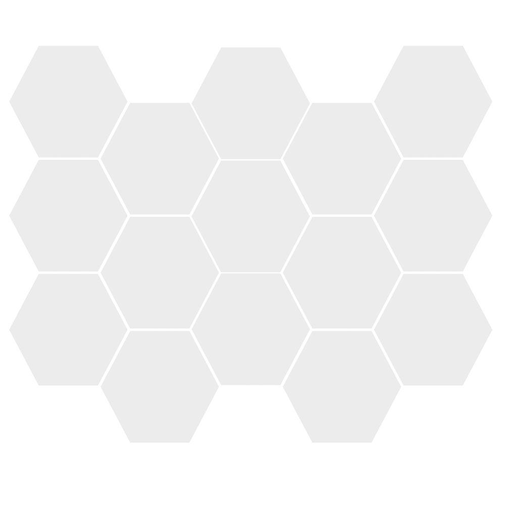 MOSAIC ALASKA GLOSSY HEXAGON (10X14 SHEET)