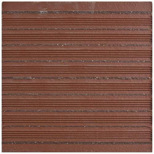 Klinker Flame Red 5-7/8 in. x 5-7/8 in. Ceramic Bullnose Floor and Wall Quarry Tile