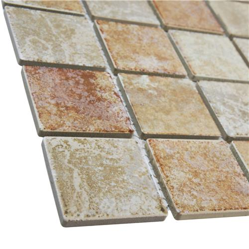 Colorado Quad Adobe 12-1/2 in. x 12-1/2 in. x 5 mm Porcelain Mosaic Tile