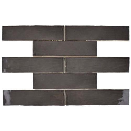 Chester Grafito 3 in. x 12 in. Ceramic Wall Tile