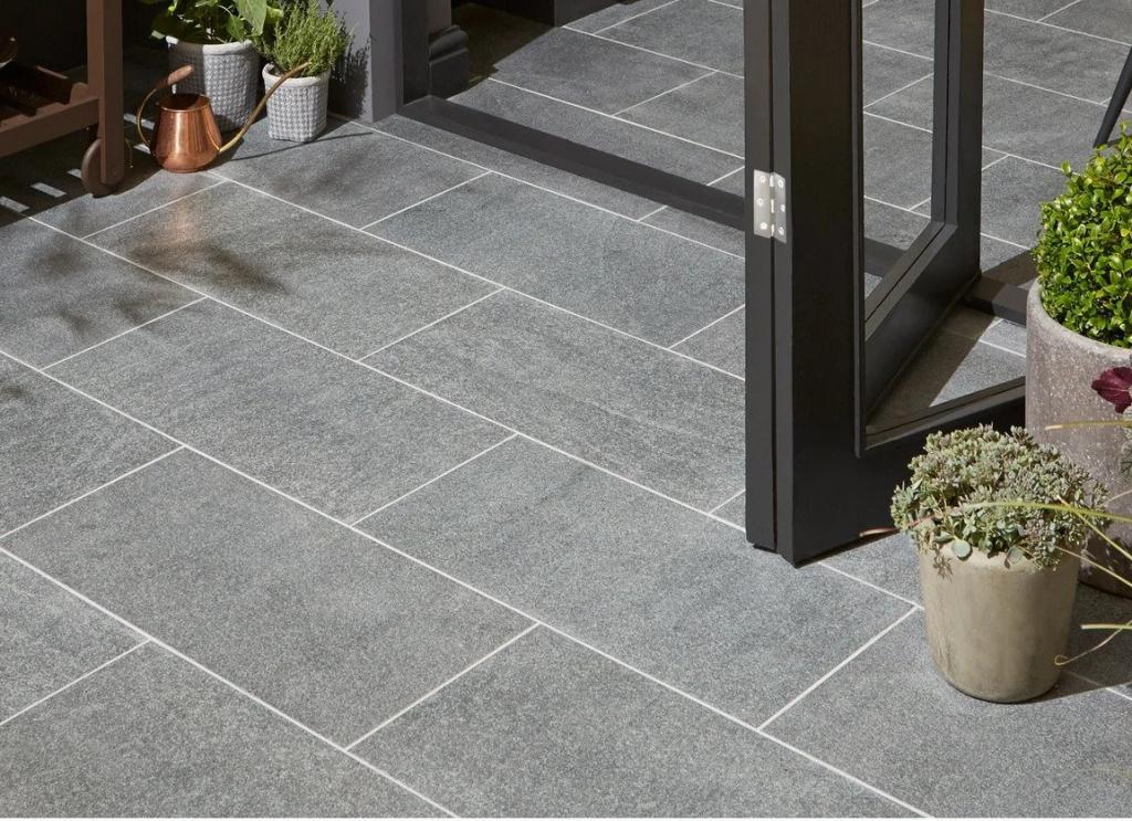 granite or ceramic tiles