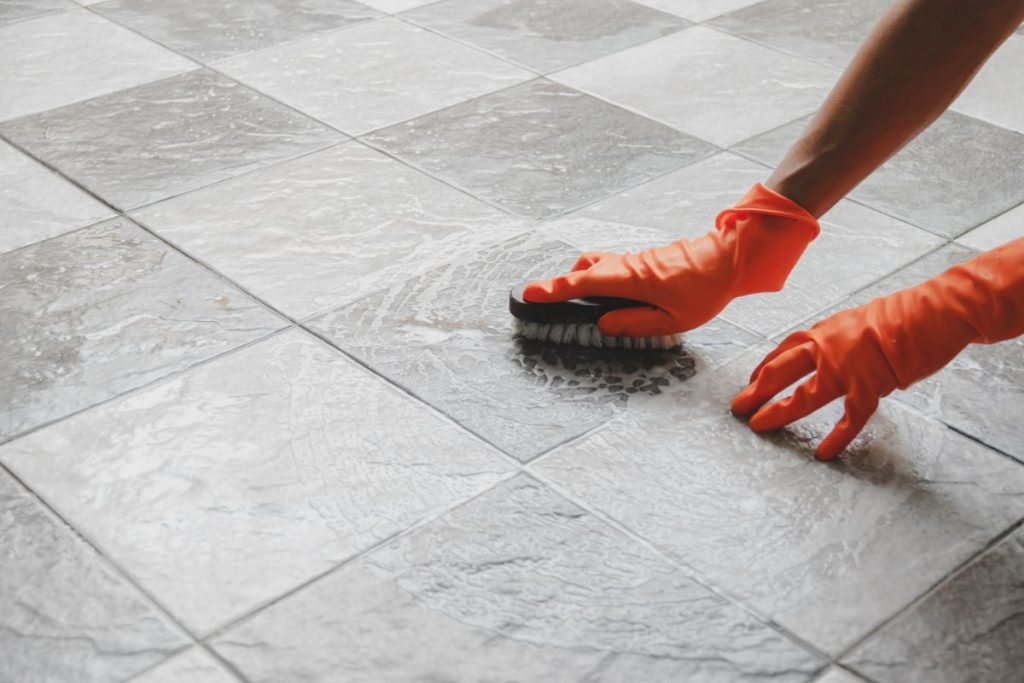 how to get grout off tile